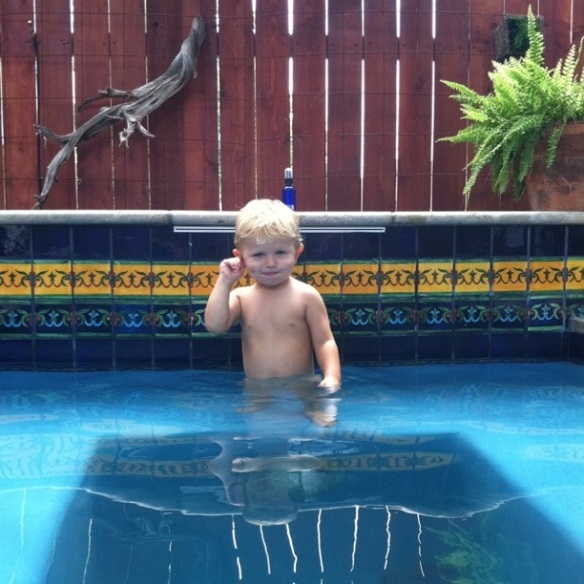 Finn in the Pool