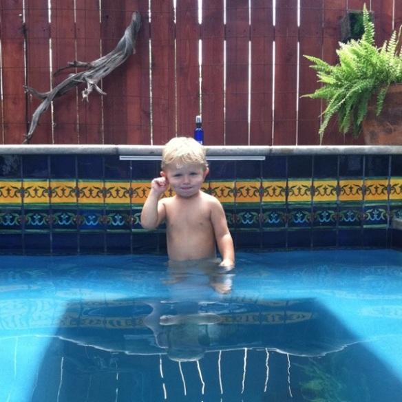 Finn in the Pool