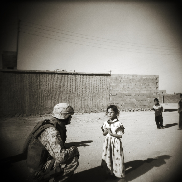 Marine with Iraqi Children, Karabyla, Iraq 2006