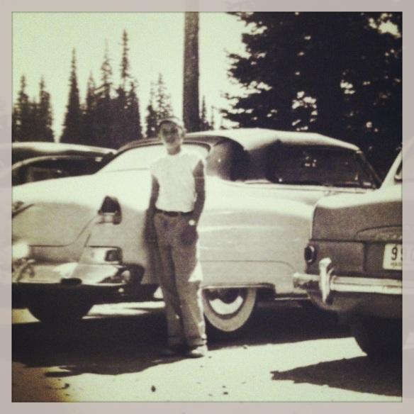 Dad in Banff, Canada